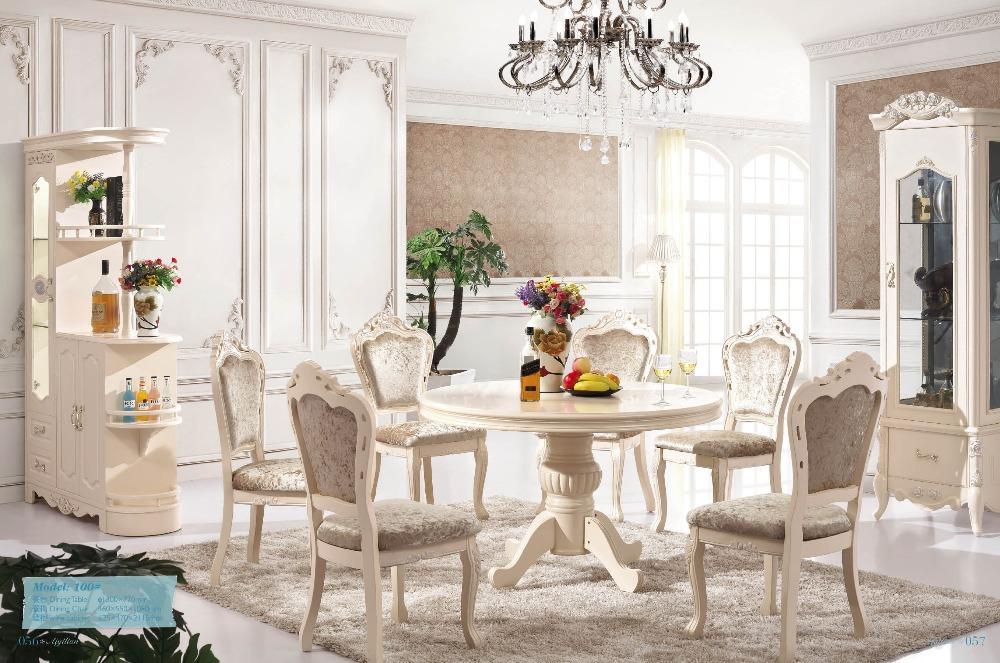 Koop Witte ronde eettafel en stoel ct 100 # van betrouwbare Eettafels ...