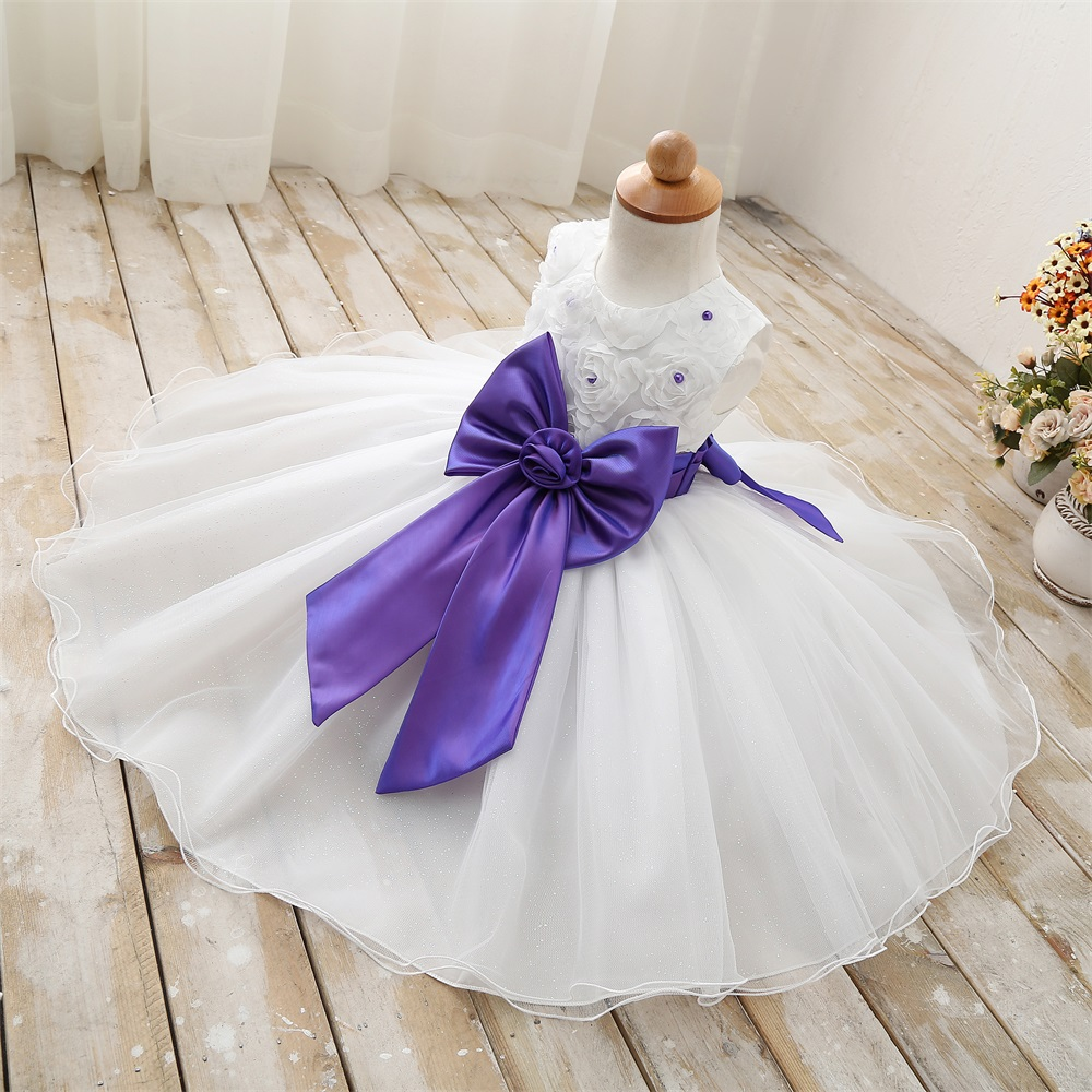 Baptism Children Formal Clothing Flower Princess Dress Girl Clothes Size 6 7 8 Party Kids Dresses for Toddler Girls Prom Dress(China (Mainland))