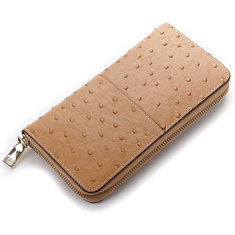 Fashion Ladies Women Leather Purses Long Hasp Wallet Ostrich Wallets Elegant Day Clutch Bag HL60017(China (Mainland))
