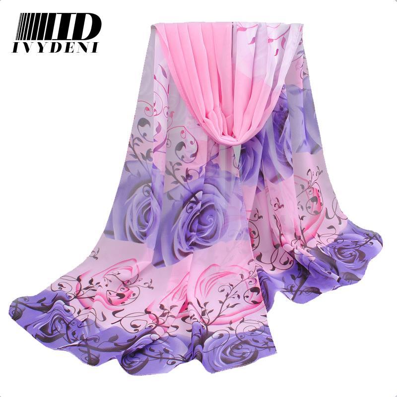 160*50 cm Fashion Floral Print Silk Scarf Women Beach Cover Up Chiffon Silk Scarf Female Summer Swimwear Women 2016 New Arrives(China (Mainland))