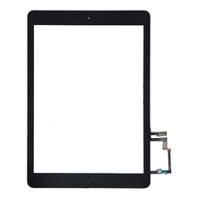 100% Original Black touch screen + home button + adhesive for Apple iPad Air 5th model A1475 A1474 free shipping