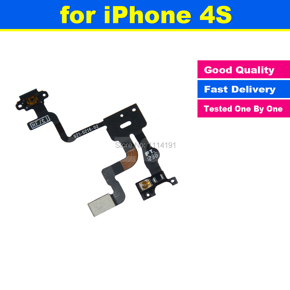Original Power Button Flex Cable Ribbon Light Sensor Power Switch On / Off Replacement for iPhone 4S(China (Mainland))