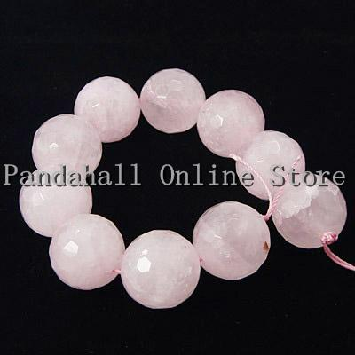 10MM Natural Rose Quartz Faceted Round Beads Strands 19pcs/strand 5strands/package(China (Mainland))