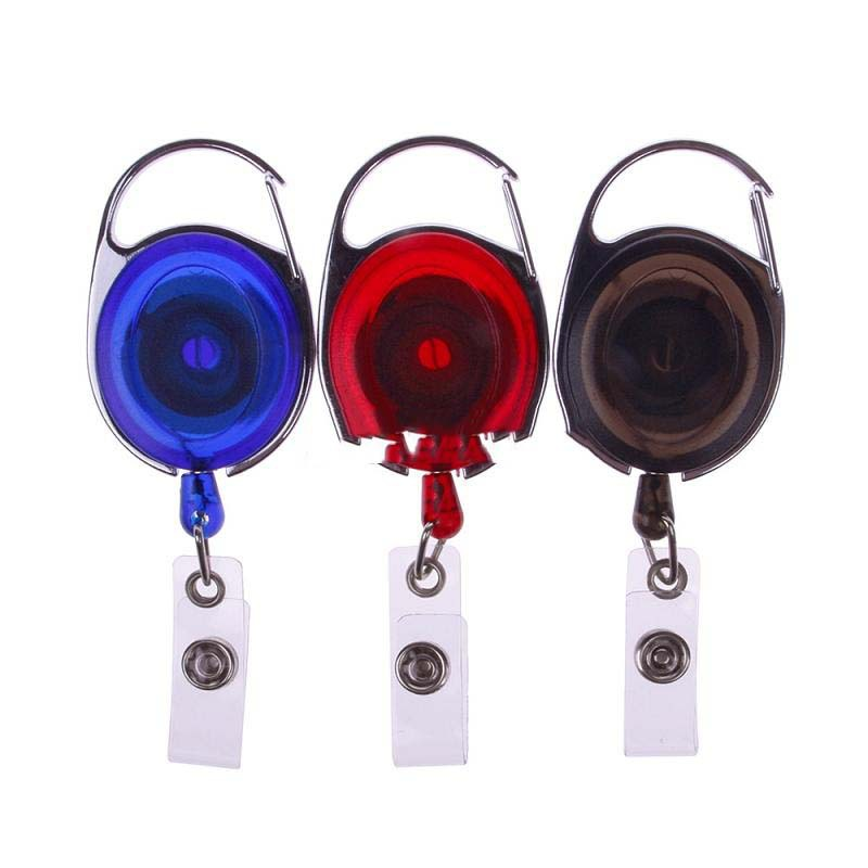 MiniSeller Super deals 1 Pcs New Useful Carabiner Style Retractable Reel Key ID Badge Holder Office