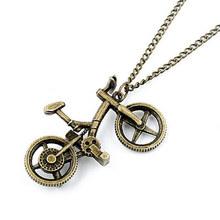 Korean Fashion Unique Vintage Metal Bike Pendant  Sweater Necklaces for Women&Men(China (Mainland))