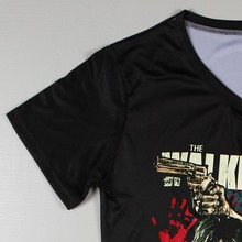 The Walking Dead Printed T-Shirt – V-Neck Short Sleeve Casual Tees
