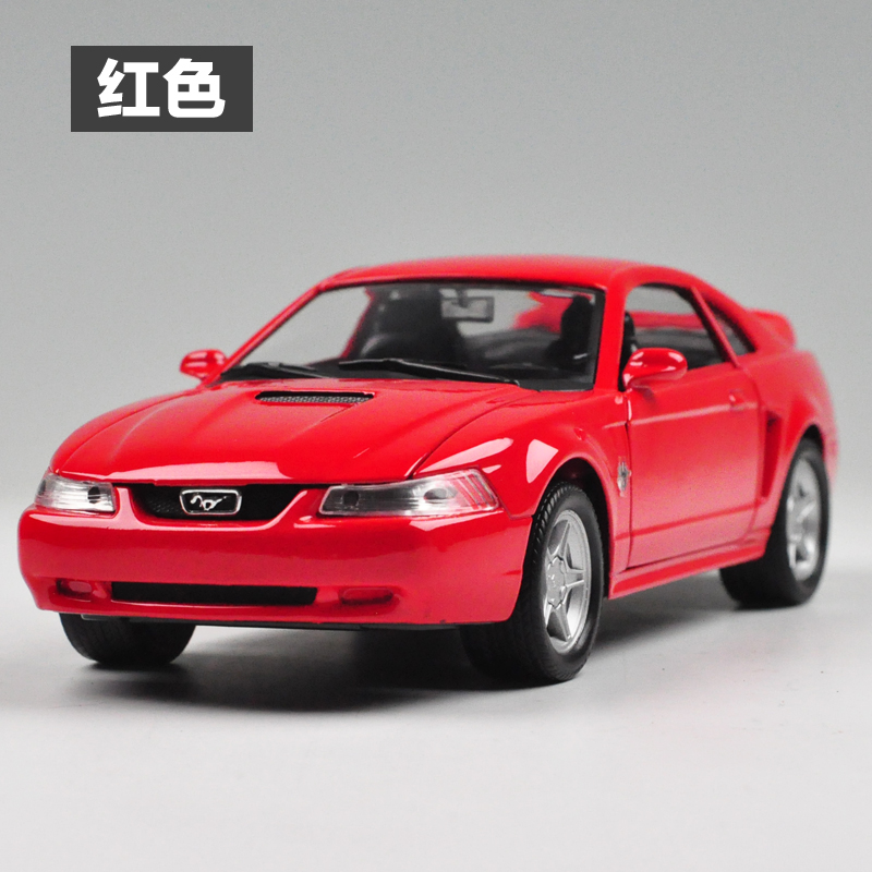 Brand New 1/24 Scale WELLY Car Model Toys 1999 Ford Mustang GT Diecast Metal Car Model Toy For Collection/Gift/Kids/Decoration(China (Mainland))