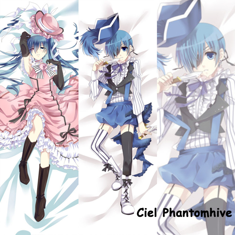 Cute Japanese Anime Pillowcase Black Butler Ciel Phantomhive Cool Male BL Pillow Case decorative Hugging Body  -  fans store store