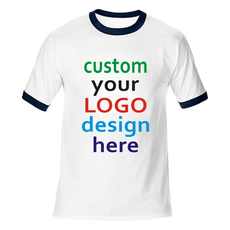 quick custom tees Personalized Custom T Shirt - with Photo & Text and/or Logo make your own design women men team t-shirt tops(China (Mainland))
