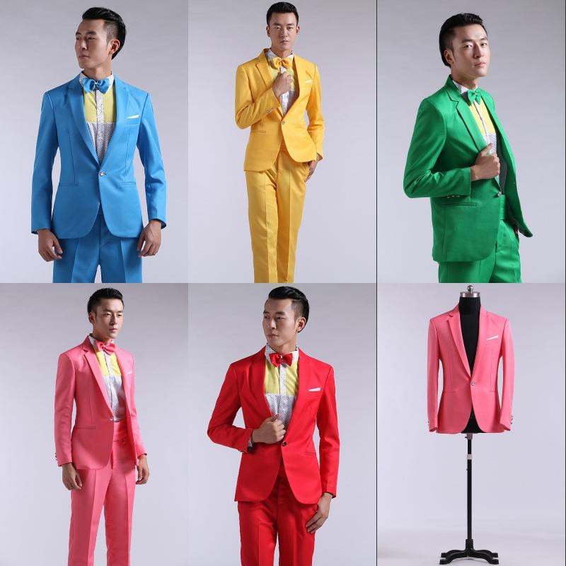 Vestito Matrimonio Uomo Giallo : Vestito da uomo rosso giallo blu e verde a maniche