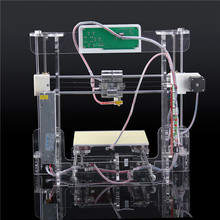 CE certificationPrusa i3 3d Printer DIY kit transparent color A8 High Precision Reprap Big print size
