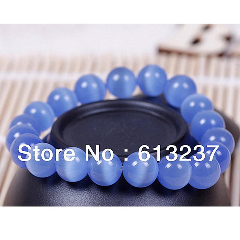 High grade blue cat eye semi-precious stone jasper 8mm round beads bracelet for women pretty party gifts jewelry 7.5inch YE0021(China (Mainland))