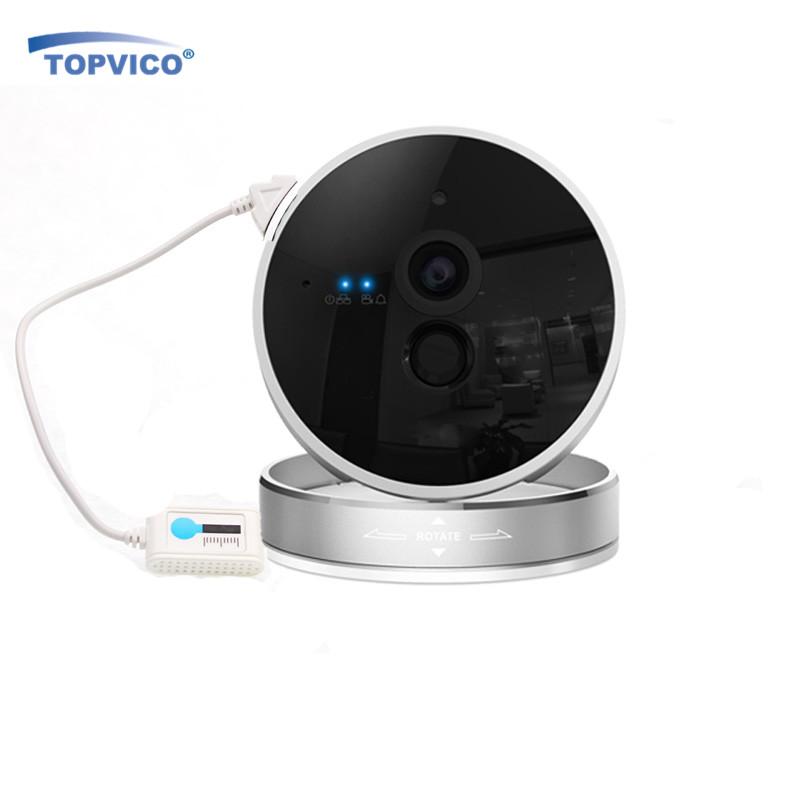 Topvico Wirelss Alarm IP Camera WIFI 720P 1.0 MP PIR Sensor ONVIF P2P Plug Play CCTV Cam Video Surveillance Home Security Camera(China (Mainland))