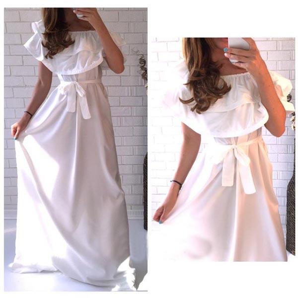 Платье с воланами на плечах своими руками