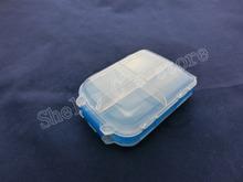 Azul Clear White Plastic 8 compartimentos componentes electrónicos caja de la caja
