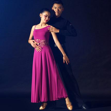 5 colorw lace splicing waltz ballroom dance dress modern dance costume red/blue/green spanish flamenco stage perfromance dress(China (Mainland))