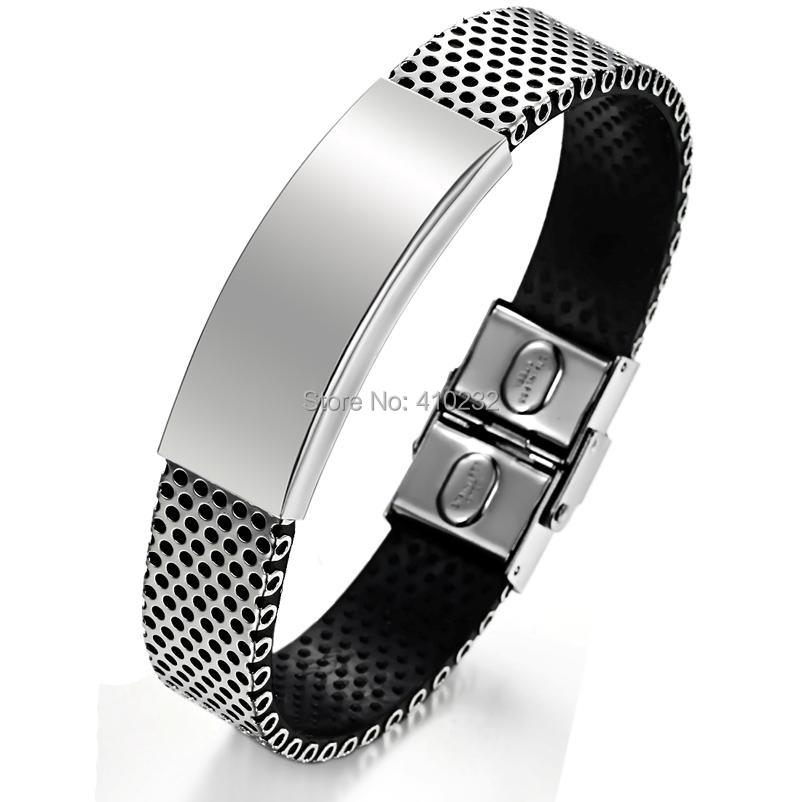 Fashion Stainless Steel Men Bracelet PU leather Bracelets Bangles - Sunshine Jewelry Co.,Ltd(min order 15USD store)