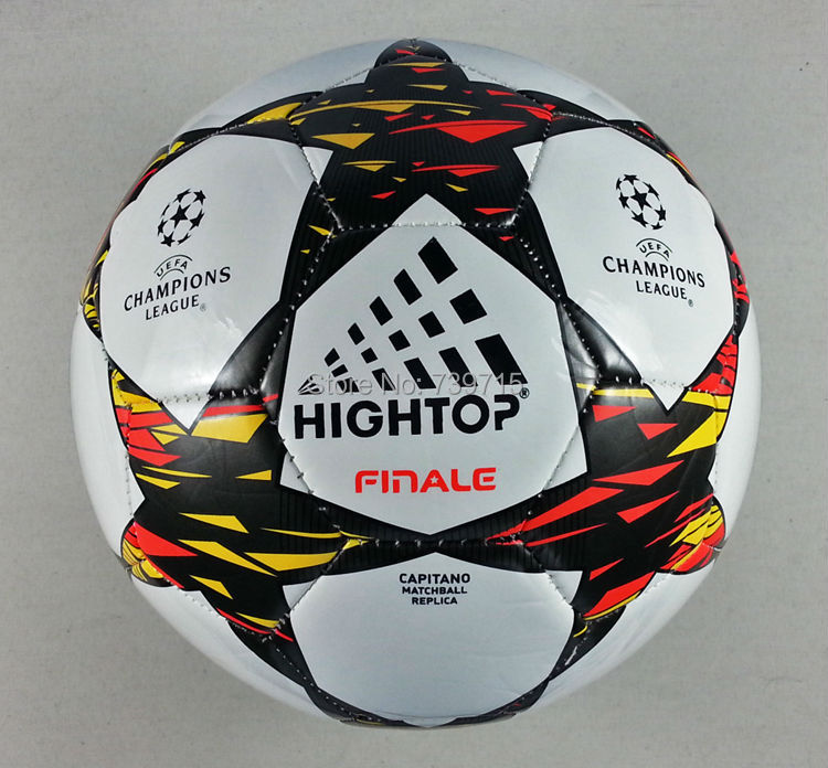 New Arrival PU Material Soccer Ball Size 5 2 Colors Style League Champions Ball For Football Official Size & Weight LEAGUE(China (Mainland))