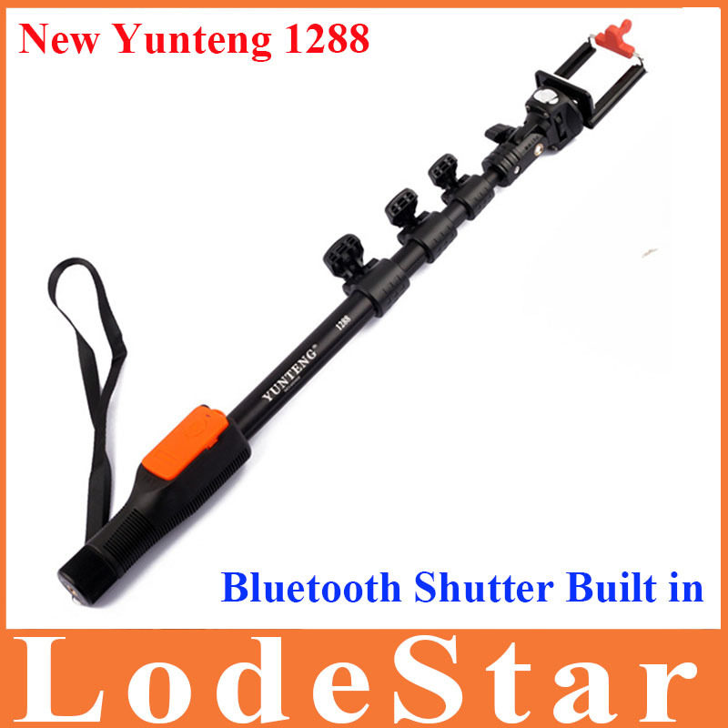 original yunteng 1288 extendable self portrait selfie stick monopod bluetooth remote shutter for. Black Bedroom Furniture Sets. Home Design Ideas