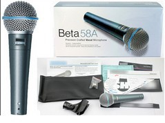 Free Shipping beta 58A 58 A good sound Handheld vocal Karaoke music instrument dynamic microphone mike mic(China (Mainland))
