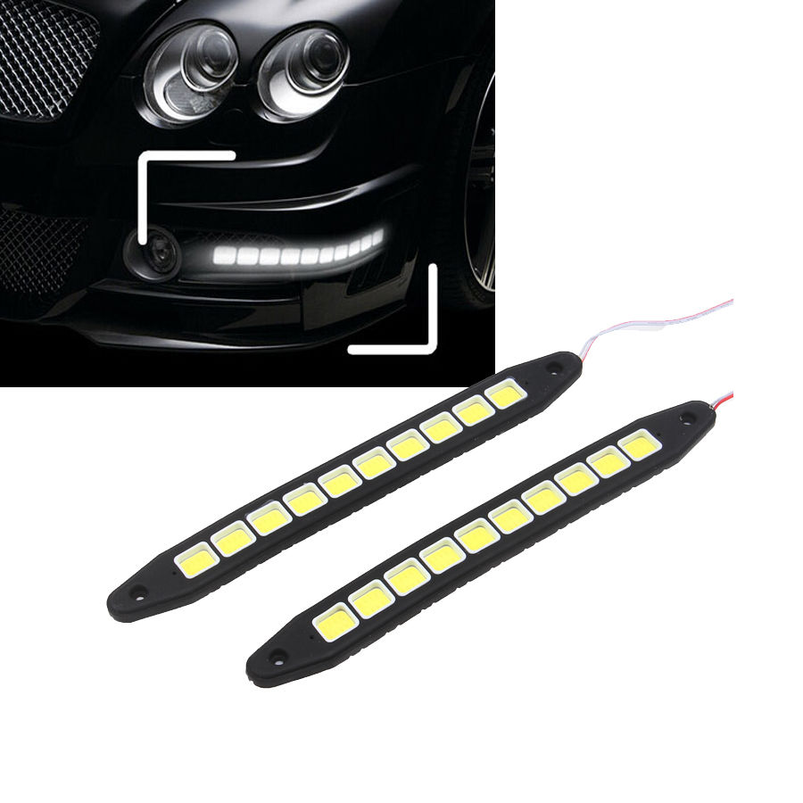 -90% OFF POSSBAY 1Pair Car COB DRL Driving Fog Light 10 LED Flexible Daytime Running Lights For Lada VW Ford Opel Renault(China (Mainland))