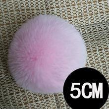 NianFox 5 CENTÍMETROS Pompom Adorável falso bola de Pele de Coelho Imitação Chaveiro Chaveiro Bola De Cabelo Do Coelho Rex Lã Como Bola para decoração da sapata(China)