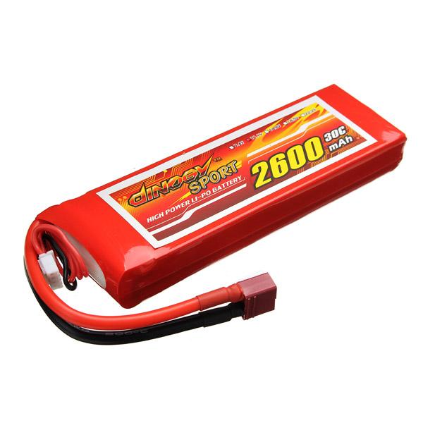 Giant Power 3S 11.1V 2600M 30C T Plug High Power Li-Po Battery<br><br>Aliexpress