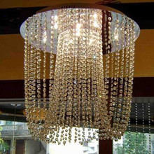 Hot selling K9 crystal curtain chandelier Lights GU10 Led bulbs pendant crystal lamp Living Room Modern stair Lighting luminaria(China (Mainland))