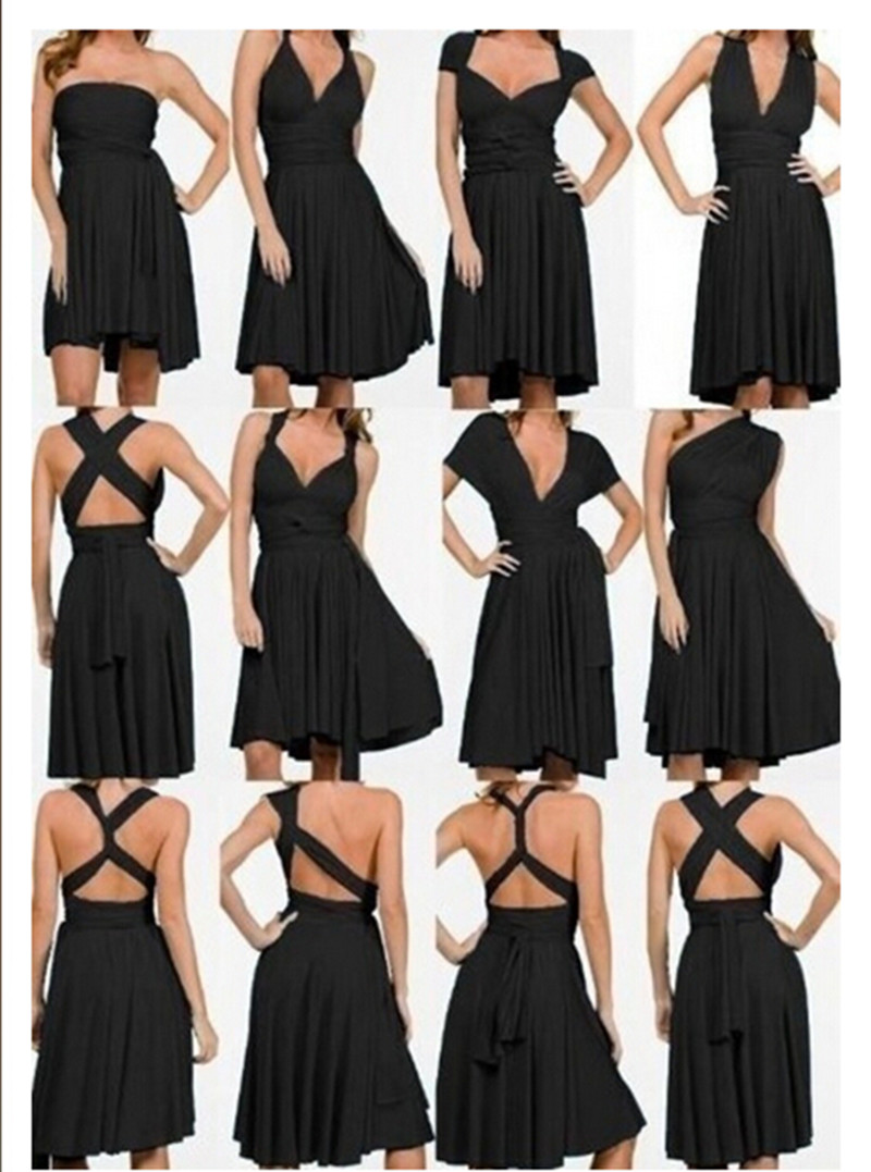 Women Korean club Variety more worn sexy Bra wrapped chest halter dress swing open infinity dress convertible dress tunique(China (Mainland))
