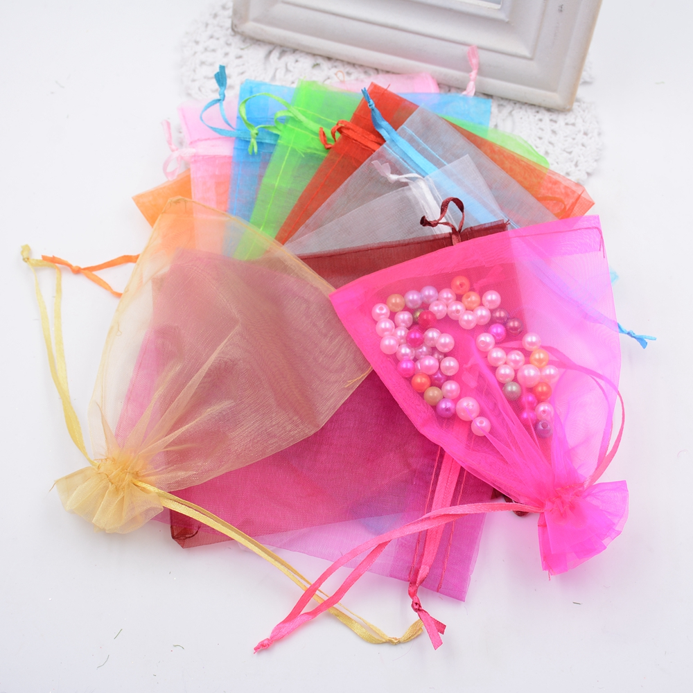 Hot selling cheap 10pcs/lot Fashion silk Transparent Square Organza Candy Bag Boxes for Wedding Favor birthday party Gift Box(China (Mainland))