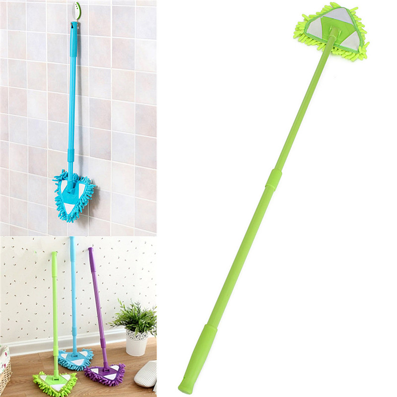 Hot Selling Microfiber Telescopic Household Floor Cleaner Stretch Triangular Dry/Wet Clean Mop Home Housekeeping Tools(China (Mainland))