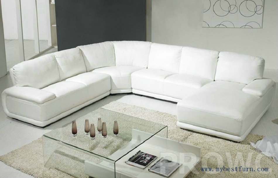 Simplicity white sofa settee modern furniture u shaped hot for Living room sofas on sale