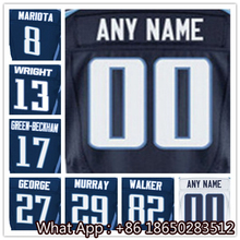 100% Stitched With Customized #8 Marcus #13 Kendall #17 Dorial #27 Eddie #29 DeMarco #82 Delanie Light Blue White Customized(China (Mainland))
