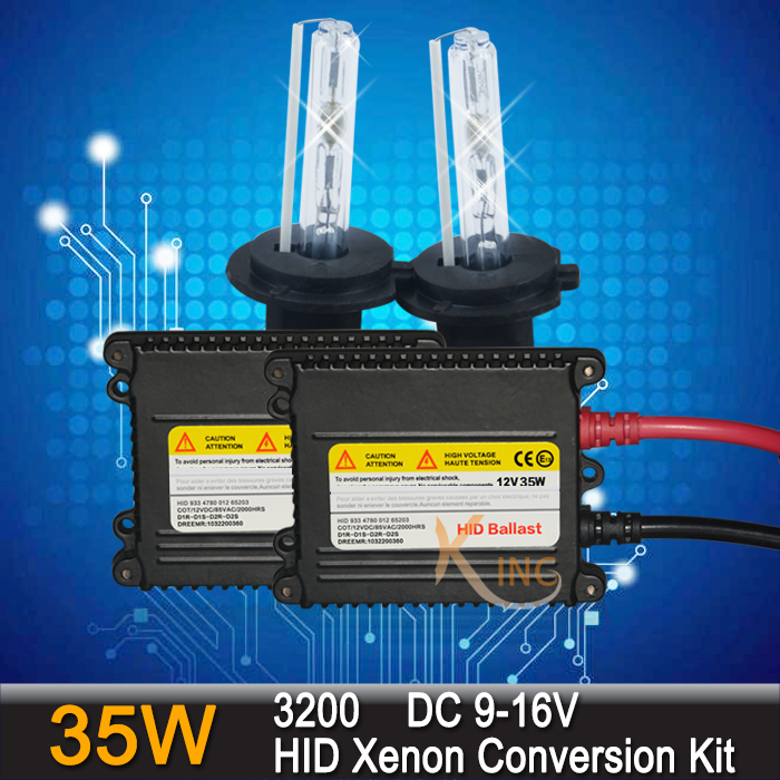 Free Shipping 35W Xenon Bulb HID Headlight Conversion Kit Lamp H1 H3 H4 H7 H8/H9/H11 HB3 HB4 9005 9006 3000k 4300k 6000k 8000k(China (Mainland))