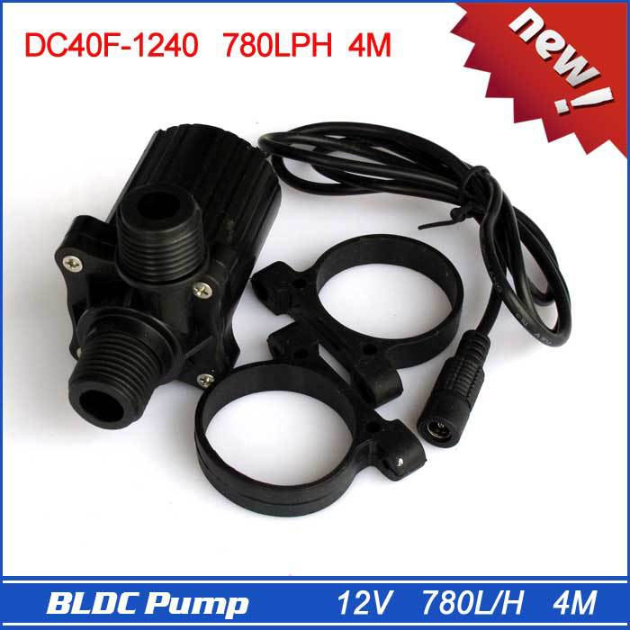 Brand New 12V Micro Pump with DC Plug, Strong 780LPH 4M, Black, 230g, Electric Power, Drop Shipping and Free Shipping!(China (Mainland))