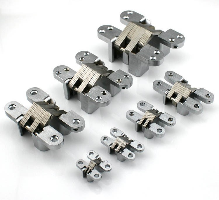Cabinet Design Security Gated Stainless Steel Hidden Cross Door Hinges CSL-04(China (Mainland))
