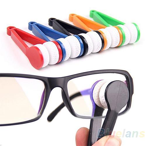 Best Selling Mini Portable Glasses Eyeglass Sunglasses Spectacles Microfiber Cleaner Brushes AJ5G(China (Mainland))