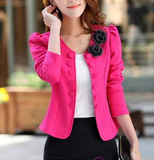 Factory price 2014 Fashion Brand Coat Jacket Women Suit Coats Plus Size Basic Jackets Full Sleeve Outerwear