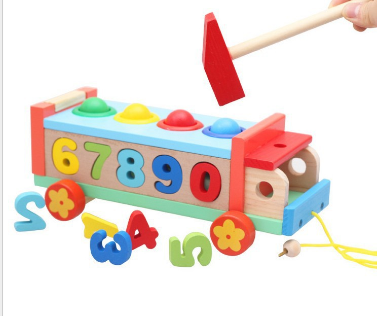 Free shipping New arriavl baby toy baseball game figure knock toy wooden toy Early Childhood Educations ToysBaby Classic Toys(China (Mainland))