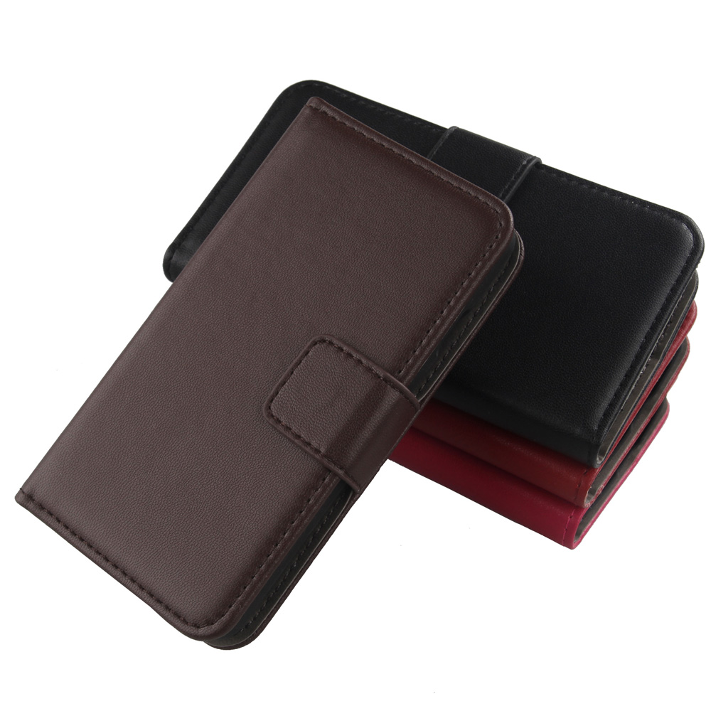 ABCTen Magnet Flip Cell Phone Case Wallet Design Genuine Leather Cover For BlackBerry Leap Q5 Q10(China (Mainland))