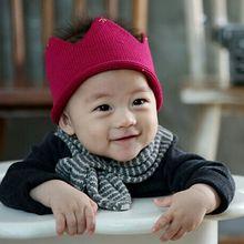 Newborn Baby Girl Boy Crochet Knit Crown Hat Photo photography Prop Handmade