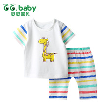 2016 Summer Baby Clothes Set Fashion Baby Suit Cotton Baby Girl Clothing Set Short Sleeve Infant Baby Boy Clothes Striped Set