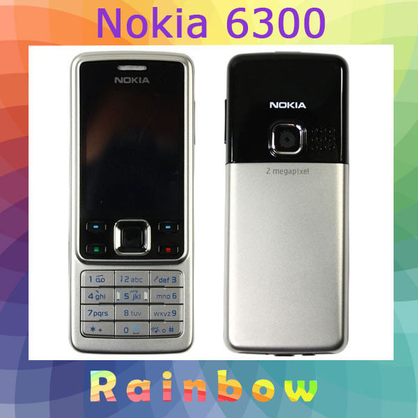 Original Nokia 6300 Bluetooth MP3 Java mobile phone Free Shipping Refurbished(China (Mainland))