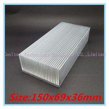 High power 150x69x36mm radiator Aluminum heatsink Extruded  heat sink for 20-100W LED heat dissipation