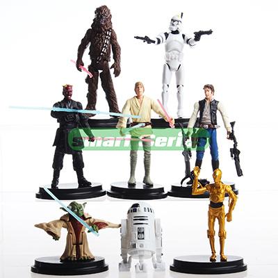 Venda quente dos desenhos animados Star Wars Action Figure R2 Jedi Chewbacca Etc Clone figuras modelo coleção brinquedos Anime brinquedos para presentes dos miúdos(China (Mainland))