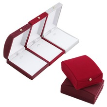 Free Shipping Fashion Velvet Jewelry Case Ring Earring Necklace Pendant Box Gift(China (Mainland))