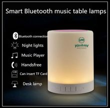 Smart Wireless Bluetooth Speaker Stereo Touch Sensor Bedside Table Lamp Decor LED Dimmable Night Light Portable Music Player(China (Mainland))