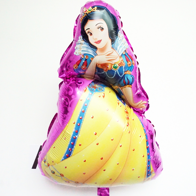 5pcs/lot 48*70cm Foil Balloons Snow White princess balloon for girl Birthday Party Decoration Kids Classic Inflatable Toys(China (Mainland))