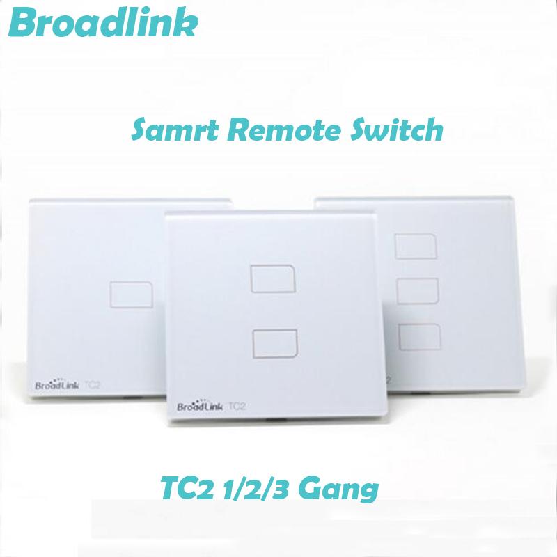 3 Pcs EU Standard Broadlink TC2 1/2/3 Gang Wireless Wifi Remote Control Wall Light Touch Screen Switch 433MHZ Smart Home System<br><br>Aliexpress