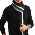 2016 Fashion Designer Men Classic Cashmere Scarf Winter Warm Soft Fringe Striped Tassel Shawl Wrap Striped
